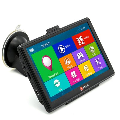 Junsun D100S 7 Inch Car 3D GPS Navigation Mointor Bluetooth w/Rearview Camera Free Map Touch Screen