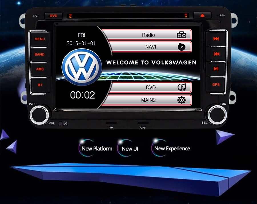 Buy Junsun 7\ Double Din Car Gps Dvd Radio Player Onlinerhjunsungps: Vw Touch Screen Radio At Gmaili.net