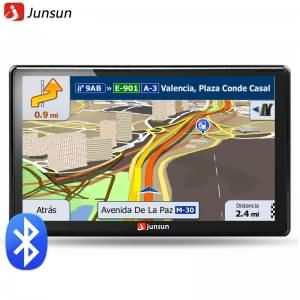 Junsun 7 inch HD Car GPS Navigation FM 8GB 256M DDR Map Free Upgrade Navitel Europe Sat nav Truck gps navigators