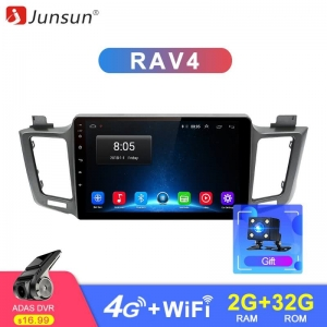 Junsun Toyota RAV4 2G+32G Android 8.1 4G Car Radio Multimedia Video Audio Player WiFi Navigation GPS 2 Din no DVD
