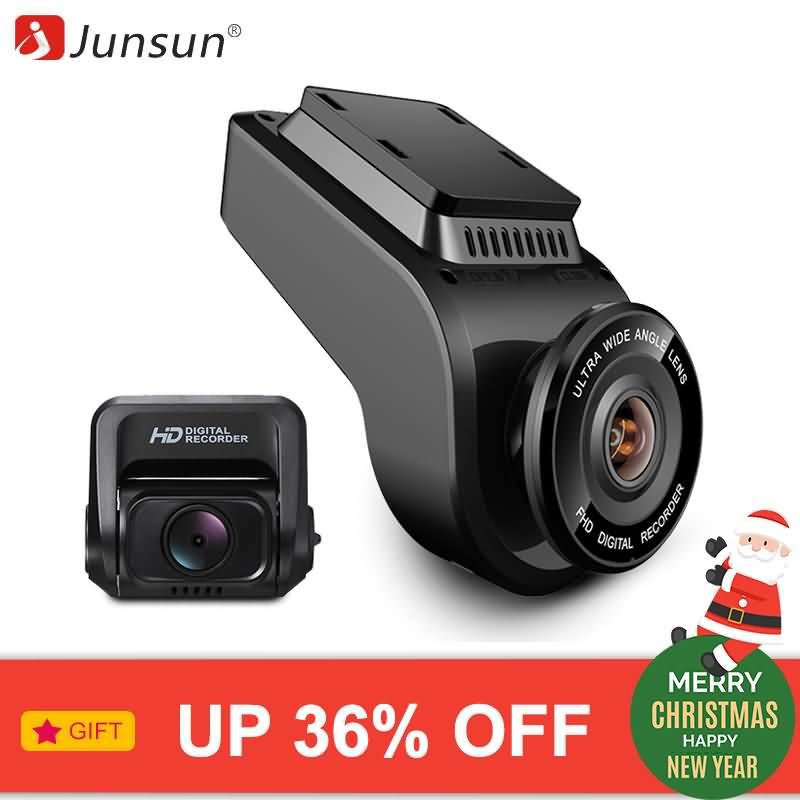 Junsun 4K Ultra HD WiFi Car Dash Cam 2160P 60fps ADAS Dvr with 1080P Sony  Sensor Rear Camera Night Vision GPS