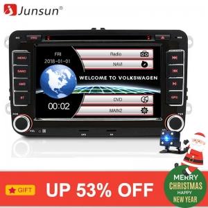 "Junsun 7"" 2 din Car DVD GPS for Volkswagen VW golf 6 passat b6 B7 Touran polo Tiguan seat leon skoda octavia"