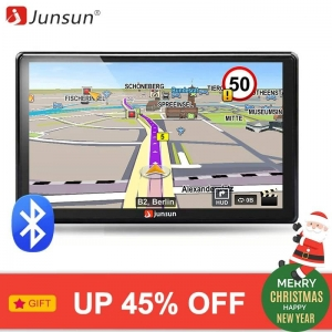 Junsun 7 inch HD Car GPS Navigation FM Bluetooth AVIN Navitel 2018 latest Europe Map