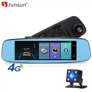 "Junsun A880 4G ADAS Car DVR Camera Video recorder mirror 7.86"" Android 5.1 with two cameras dash cam Registrar black box 16GB"