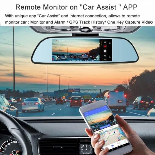 Junsun E515 Car DVR 3G Mirror 6 5″ Dash Cam Full HD 1080P Video Recorder  Camera