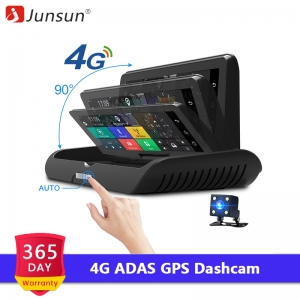 Junsun 4G ADAS Car Dashcam Android DVR Camera FHD 1080P Dual Lens Auto Dash Cam Navi GPS Adjustable Screen Parking Monitor