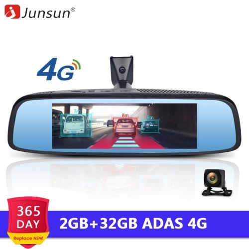 Junsun 4G Special RearView Mirror 2GB RAM Car DVR ADAS Android GPS Navi Auto 1080P Video Recorder
