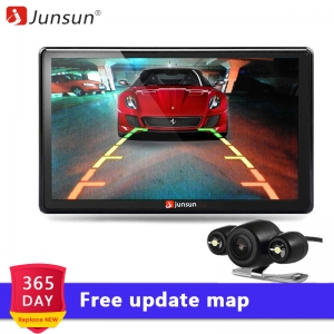 Junsun 7 inch Car GPS Navigation Bluetooth 8GB with Rear view Camera FM MP3 MP4 800MHZ Detailed Maps navigator