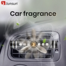Junsun Car Outlet Aromatherapy Propeller Smell Air Freshener in the car Air Conditioning Clip Magnet Diffuser solid perfume