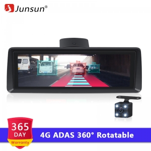 "Junsun E94P 4G Android ADAS Car Dashcam Camera FHD 1080P Dual Lens 7.84"" DVR with GPS Navigator Parking Monitor Registrar"