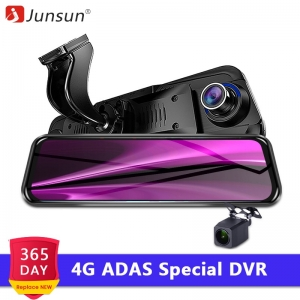 "Junsun New 4G ADAS Android Car DVR Camera 10"" Streaming RearView Mirror 1080P GPS Registrar Special Video Recorder"