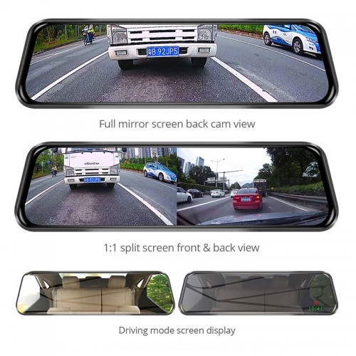 Junsun New 4G ADAS Android Car DVR Camera 10″ Streaming RearView Mirror  1080P GPS Registrar Special Video Recorder