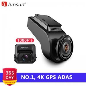 Junsun S590 4K Ultra HD GPS Car Dash Cam 2160P 60fps ADAS Dvr with 1080P Sony Sensor Rear Camera Night Vision