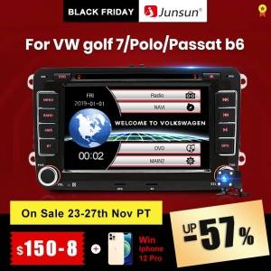 Junsun Volkswagen VW Passat B7 B6 Golf Touran Polo Sedan Tiguan jetta 2 din Android DVD Car Radio Multimedia Player GPS