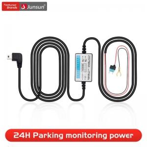 Junsun DC 12/24V 5V 3A 3M Mini Plug Car Charger Hardwire Kit for Dash Cam Reaview Mirror Camera GPS Auto Charging